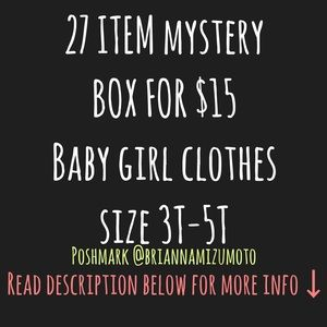 MYSTERY BOX BABY GIRL SIZE 3T-5T